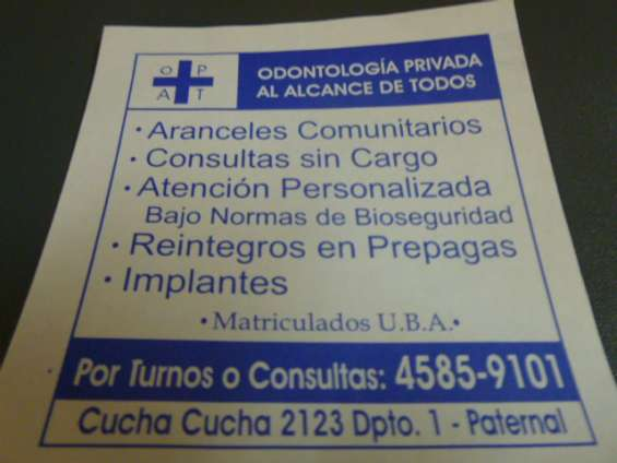Consultorio dental privado odontologico, paternal